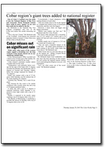 News Article : The Cobar Weekly